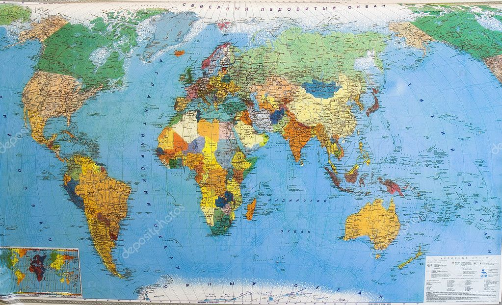 Political map of world — Stock Photo #1500595