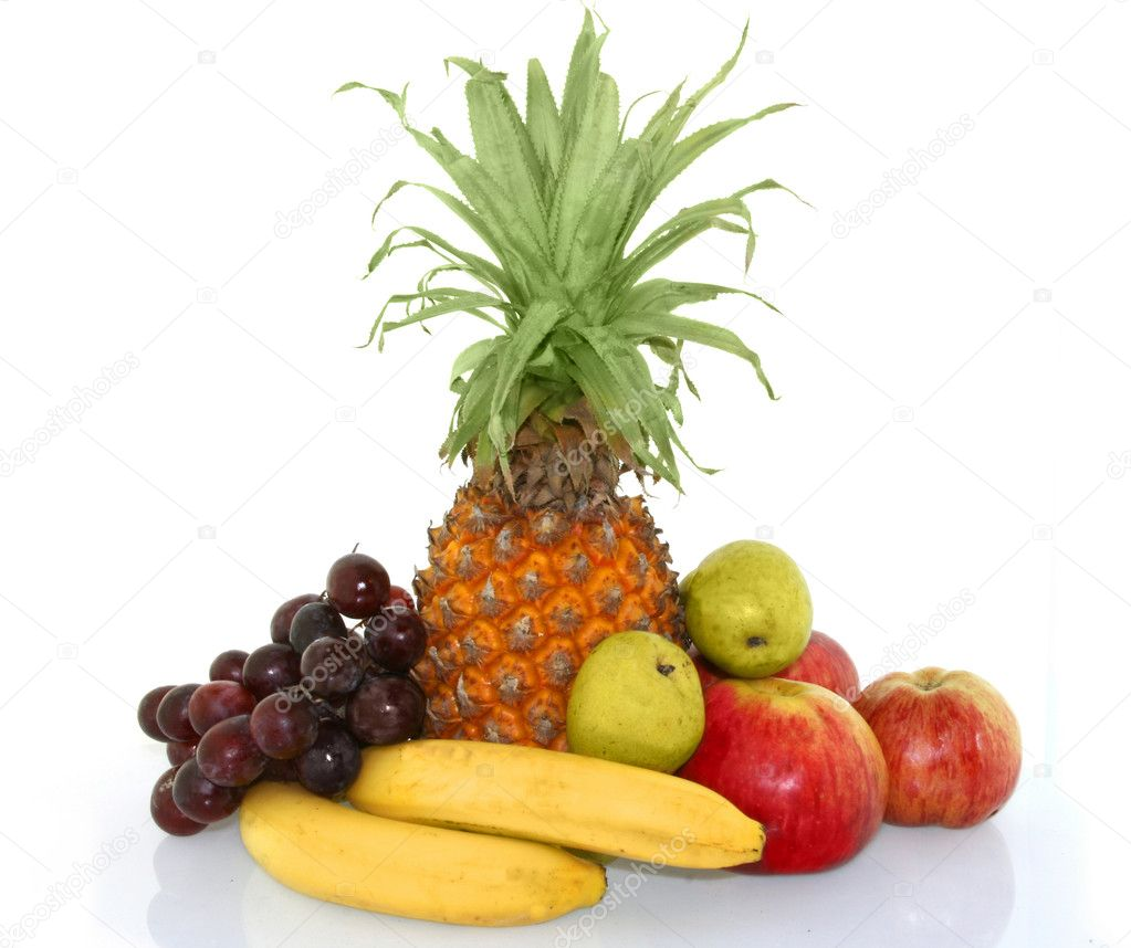 Colorful fresh group of  fruits — Stock Photo #1501548