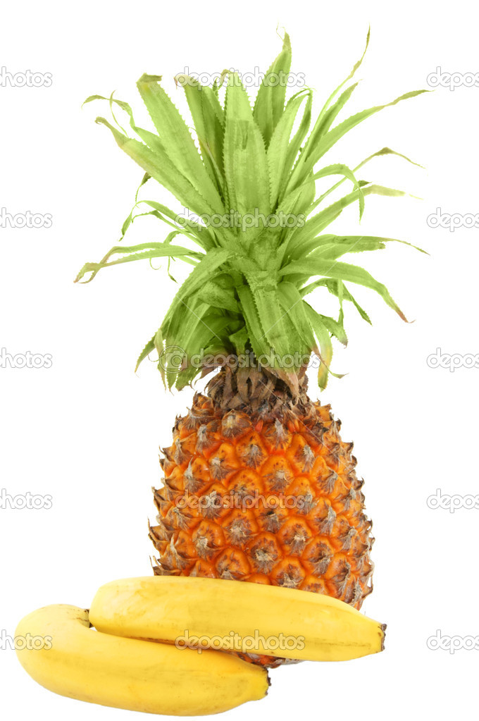 Pineapple and bananas — Stock Photo #1509805