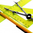 Set instruments for geometric drawings — Stock Photo #1510588