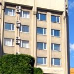 Facade of the modern hotel — Stock Photo