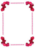 Original wild roses frame — Stock Photo