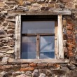 Window in the ancient house — Stock Photo