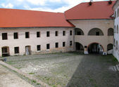 Courtyard in the castle — Stock Photo