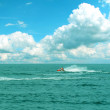 Blue sea panorama — Stock Photo