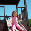 Stock Photo: Little girl on the playground