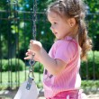 Girl and swing — Stock Photo #1506332