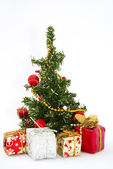 Christmas tree with — Stock Photo