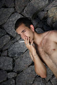 Guy with a cigarette — Stockfoto