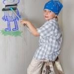 壁を洗浄 — ストック写真