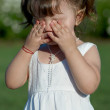 Little girl crying  — Stock fotografie