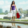Girl with a shopping Bags - Stock Photo