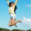 Jumping girl — Stock Photo #1530934