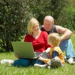 Royalty-Free Stock Photo: Family Studying The Laptop