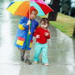 Little boy and little girl together — Stock Photo #1534988
