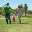 Foto Stock: Family in the park