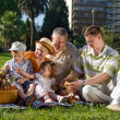 Family in park — Foto de Stock