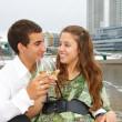 Couple on the sailboat — Stock Photo