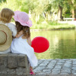 Boy and girl in the park — Stock Photo #2636541
