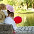 Stock Photo: Boy and girl in park