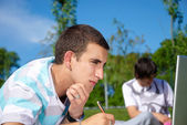 Studing in the park — Foto Stock