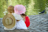 Boy and girl in park — Stock Photo
