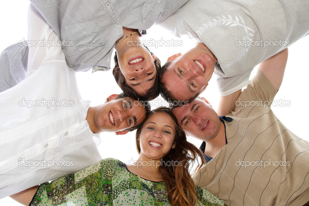 Group of young having fun outside  Stock Photo #2633887