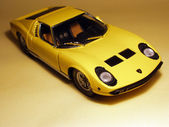 Yellow Supercar 1/18 model — Stock Photo