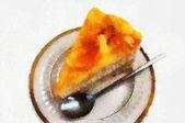 Piece cake — Stock Photo