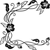 Vector illustration of floral ornament — Vector de stock
