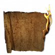 Burned paper — Stock Photo