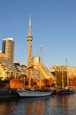 Toronto view from water — Stock Photo