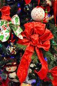 Red Christmas tree decoration — Stock Photo