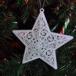 White christmas  star — Stock Photo