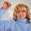 Stock Photo: Frozen star