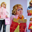 Christmas shopping - Stock Photo