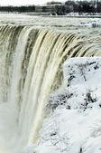 Niagara falls winter science — Stock Photo