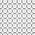birçok beyaz duvar saatleri — Stok fotoğraf