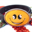 Smiling belt - Stock Photo