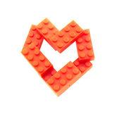 Heart from lego blocks — Stock Photo