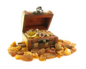 Treasure in old chest — Stock Photo