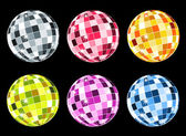 Set of disco balls — Stock Vector