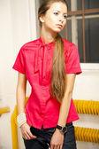 Woman Fashion Studio — Stock Photo