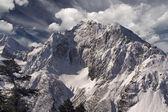 Mountain landscape snow mountains — Stock Photo