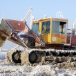 Frosted farming equipment — Stock Photo
