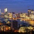 Skyline of the city of rotterdam - 图库照片