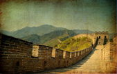 Grunge image of the great wall — Stock Photo