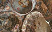 Oude fresco's op het plafond — Stockfoto