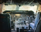 Cockpit of a big airplane — Stock Photo