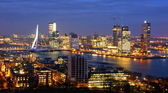 Skyline of the city of rotterdam — Foto Stock